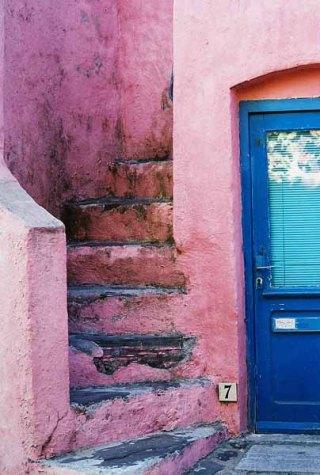 Steps in Collioure by Yolande Morin