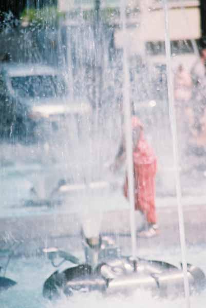Girl in Fountain 2