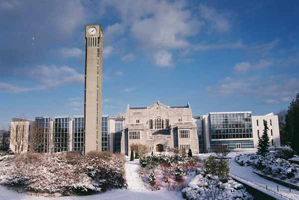 U.B.C. Campus in Winter