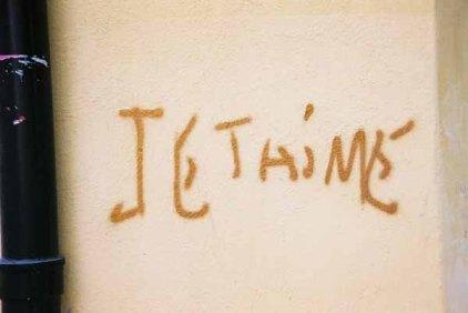 Je t'aime graffiti 1492