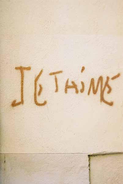 Je t'aime graffiti 1493