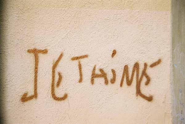 Je t'aime graffiti 1494